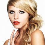 Причёска с ХВОСТОМ на крабе - причёска с постижем, бежевый блонд