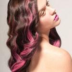 Причёска с ПРЯДКАМИ color на заколках - причёска с постижем, розовые оттенки
