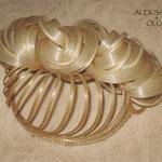 ПУЧОК для Волос - постиж, с элементами плетения, светлый блонд (из натуральных волос)