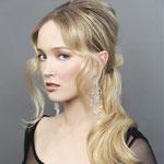 Причёска с ХВОСТОМ на крабе - причёска с постижем, пепельный блонд