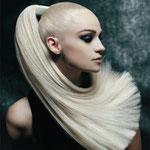 Причёска с ХВОСТОМ на заколке - причёска с постижем, белый блонд