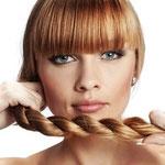 Причёска с КОСОЙ-имитацией - причёска с постижем, золотисто-медный