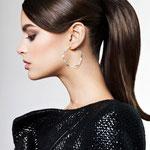 Причёска с ХВОСТОМ на ленте - причёска с постижем, тёмно-русый
