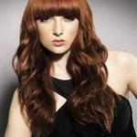 Причёска с НАКЛАДКОЙ combo - причёска с постижем, медные прямые волосы