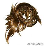 ВАЛИК - РАКУШКА - постиж, светло-русый (из натуральных волос)