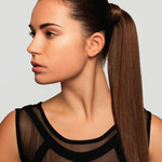 Причёска с ХВОСТОМ на заколке - причёска с постижем, тёмно-русый