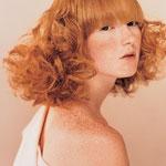 Причёска с НАКЛАДКОЙ - ЧЁЛКОЙ с пробором - причёска с постижем, золотисто-медный