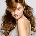 Причёска с ШИНЬОНОМ на заколках - причёска с постижем, золотисто-русый