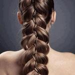 Причёска с КОСОЙ-имитацией - причёска с постижем, русый