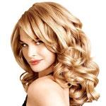 Причёска с ПОЛУ-ПАРИКОМ combo (с имитацией кожи головы) - причёска с постижем, бежевый блонд