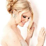 Причёска с БАБЕТТОЙ mini на заколках - причёска с постижем, золотистый блонд
