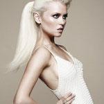 Причёска с ХВОСТОМ на ленте - причёска с постижем, блонд