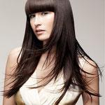 Причёска с НАКЛАДКОЙ combo - причёска с постижем, тёмно-русые прямые волосы