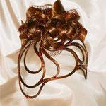 ДИАДЕМА - постиж, золотисто-медная (из натуральных волос)