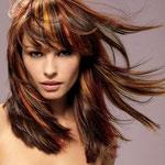 Причёска с ПРЯДКАМИ color - причёска с постижем, рыжие оттенки