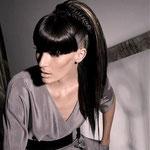Причёска с НАКЛАДКОЙ - причёска с постижем, чёрный