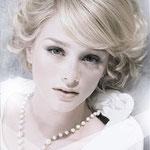 Причёска с ЧЁЛКОЙ на заколках - причёска с постижем, пепельный блонд