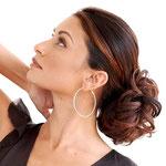 Причёска с Резинкой из Волос - причёска с объёмной резинкой, мелирование, кудрявые волосы