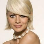 Причёска с ЧЁЛКОЙ на заколках - причёска с постижем, блонд