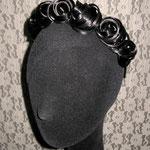 Ободок для Волос - постиж, чёрный (из натуральных волос)