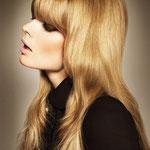 Причёска с НАКЛАДКОЙ combo - причёска с постижем, светло-русые золотистые прямые волосы