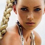 Причёска с КОСОЙ-имитацией - причёска с постижем, светло-русый