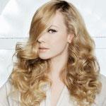 Причёска с ПОЛУ-ПАРИКОМ - причёска с постижем, светло-русые волосы с лёгкой волной