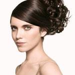 Причёска с Резинкой из Волос - причёска с объёмной резинкой, тёмно-русые, волнистые волосы