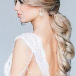 Причёска с ЛОКОНОМ на заколке - причёска с постижем, светлый блонд