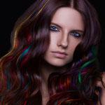 Причёска с ПРЯДКАМИ color на заколках - причёска с постижем, разноцветные оттенки