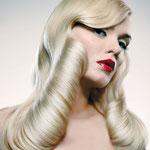 Причёска с ШИНЬОНОМ-лентой на заколках - причёска с постижем, белый блонд