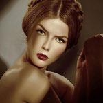 Причёска с КОСОЙ на ободке - причёска с постижем, медно-русый и светло-русый