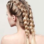 Причёска с КОСИЧКАМИ light, мелирование (мягкие славянские волосы)
