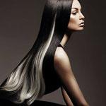 Причёска с ПРЯДКАМИ color на заколках - причёска с постижем, блонд оттенки