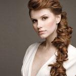 Причёска с ЛОКОНОМ - имитацией - причёска с постижем, медно-русый