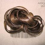 Украшение ГРЕБЕНЬ для Волос - постиж, русый, мелирование