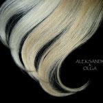 ПРЯДКИ color на заколках - постиж, белый блонд и золотистый блонд