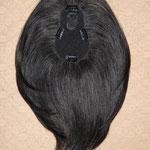 Теменная НАКЛАДКА восьмёрка mini - на заколках - постиж, тёмно-русый, прямые волосы