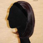 Теменная Накладка на Ободке - постиж, шатен коричневый, прямые волосы