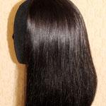 ПОЛУ-ПАРИК - каре (под ободок, на ободке), постиж, тёмно-русый, прямые волосы