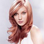 Причёска с ПОЛУ-ПАРИКОМ combo (с имитацией кожи головы) - причёска с постижем, светло-русый медный прямые волосы