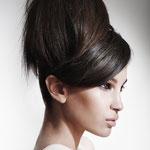 Причёска с БАБЕТТОЙ mini - причёска с постижем, тёмно-русый