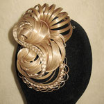ПУЧОК для Волос - постиж, с элементами плетения, мелирование (из натуральных волос)