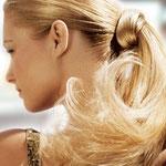 Причёска с ХВОСТОМ на ленте - причёска с постижем, золотистый блонд