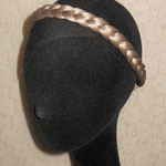 Классическая КОСА на резинке, накладная коса - постиж, бежевый блонд, из натуральных волос