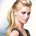 Причёска с ШИНЬОНОМ на заколках - причёска с постижем, бежевый блонд