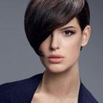 Причёска с ЧЁЛКОЙ на заколках - причёска с постижем, тёмно-русый