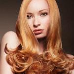 Причёска с ШИНЬОНОМ-лентой на заколках - причёска с постижем, золотисто-медный