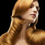Причёска с ШИНЬОНОМ-лентой на заколках - причёска с постижем, медно-золотистый