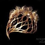 украшение - диадема - постиж, из натуральных волос